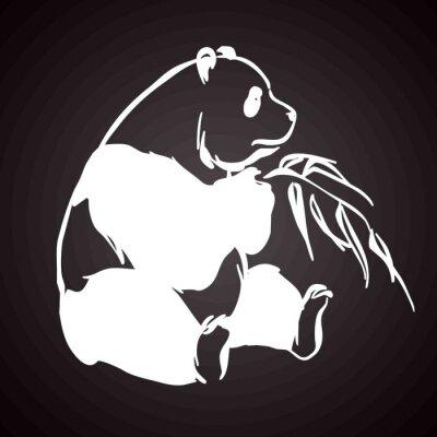Naklejka Panda tatouage