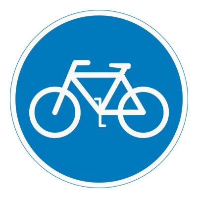 Naklejka Panneau piste cyclable