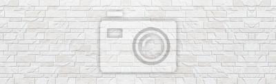 Naklejka Panorama biały nowożytny kamiennej ściany wzór i tło