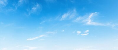 Naklejka panorama blue sky background with white cloud