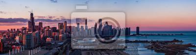 Naklejka Panorama Chicago