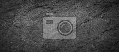 Naklejka Panorama dark grey black slate background or texture.Panorama black slate background
