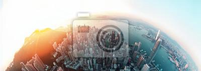 Naklejka Panorama Hong Kong City