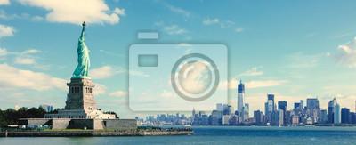 Naklejka Panorama na Manhattanie w Nowym Jorku