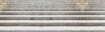 Naklejka Panorama of White marble staircase and outdoor Granite floor