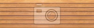 Naklejka Panorama rocznika brązu drewna ściany wzór i tło bezszwowi