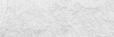 Naklejka Panorama white paper wrinkled texture background.