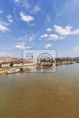 Panorama widok na Belgrad starej części miasta