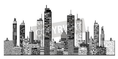 Naklejka Panoramę miasta