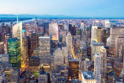 Naklejka Panoramę Nowego Jorku zmierzchu.