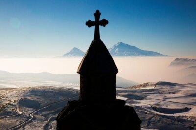 Naklejka Panoramic view of Mount Ararat in Armenia