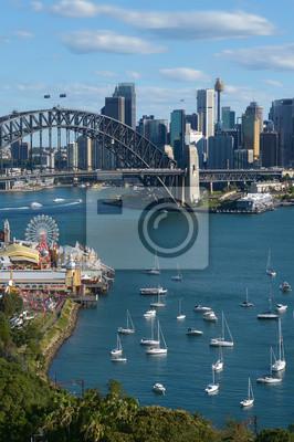 Naklejka Panoramiczny widok na panoramę Sydney