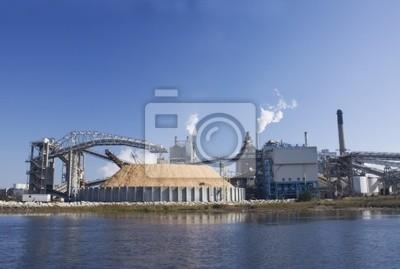 Naklejka papiernia nad brzegiem rzeki