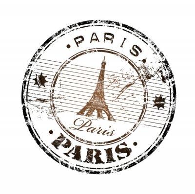 Naklejka Paris pieczątka