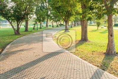 Naklejka Parki i ulice w godzinach porannych