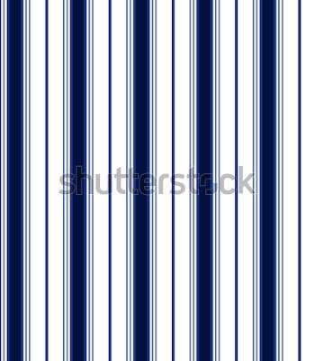 Naklejka Pasiasty bezszwowy wzór z błękitnym i białym pionowo równoległym paskiem. Wektorowy abstrakta wzór paskuje tło.