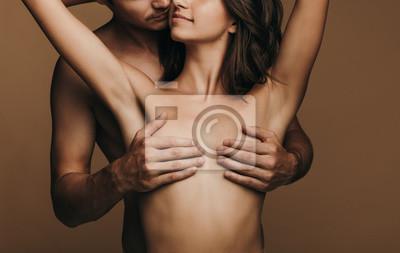 Naklejka Passionate young couple