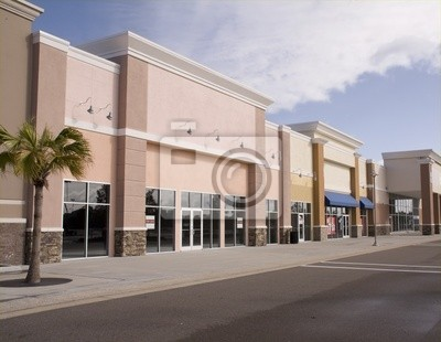Naklejka pastel sklepowa mall