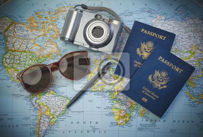 Naklejka Paszporty do świata podróży