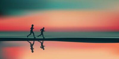 Naklejka Paysage plage-bieg
