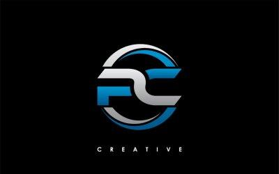 Naklejka PC Letter Initial Logo Design Template Vector Illustration