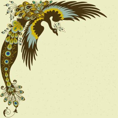 Naklejka Peacock karty