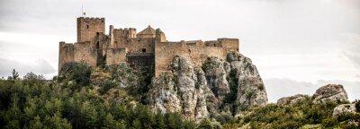 Naklejka Pejzaż z Zamku Loarre w Huesca, Aragon w Hiszpanii