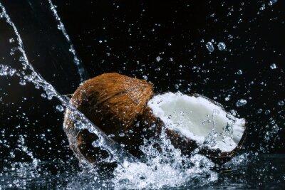 Naklejka pęknięty kokosowy