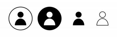 Naklejka people icons set. person icon. User vector icon