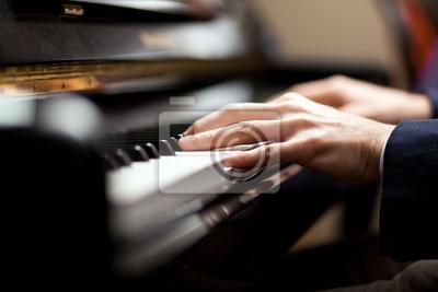 Naklejka Pianista gra muzyka