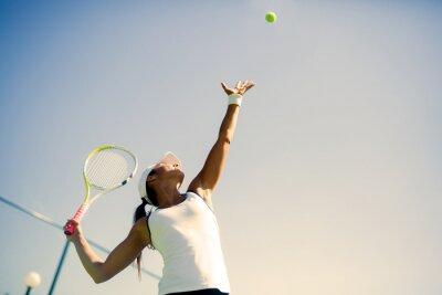 Naklejka Piękna tenisistka porcja