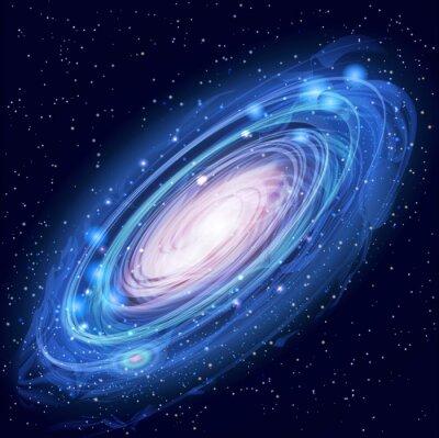 Naklejka Piękne Glowing Vector Andromeda Galaxy