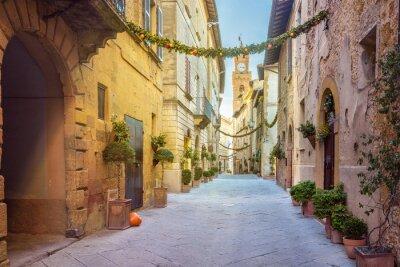 Naklejka Piękne miejsca w magicznym maleńkim miasteczku