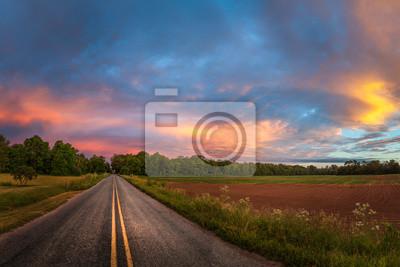 Naklejka Piękne niebo z drogi krajowej