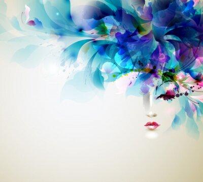 Naklejka Piękne streszczenie kobiety z abstrakcyjnych elementów