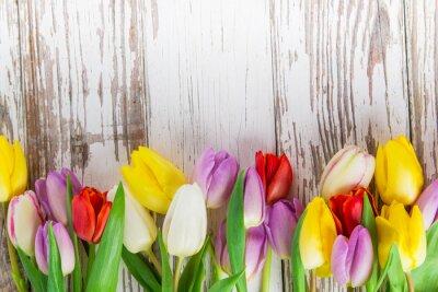 Naklejka Piękne tulipany w tle
