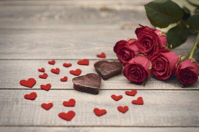 Naklejka Piękny skład symboli Walentynki.