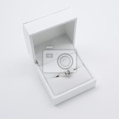 Naklejka Pierścionek zaręczynowy diament (box)