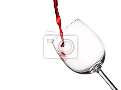 Naklejka Pierwsza kropla czerwonego wina