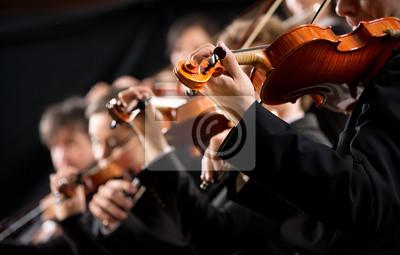 Naklejka Pierwsza sekcja skrzypiec orkiestry