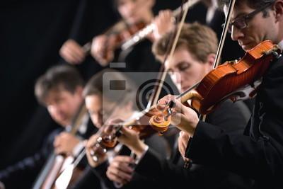 Pierwsza sekcja skrzypiec orkiestry