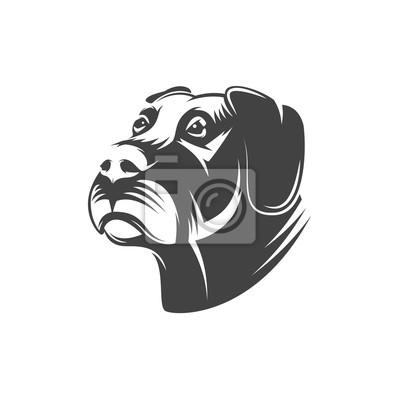 Pies głowa ilustracja na białym tle.