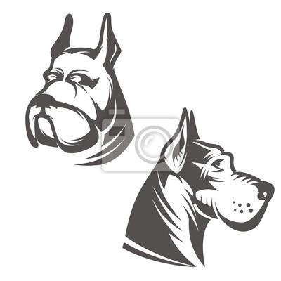 Pies głowa ilustracja na białym tle. eleme design