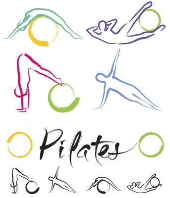 Naklejka pilates