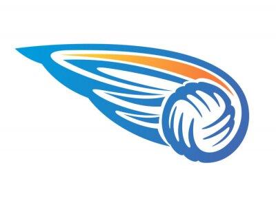 Naklejka Piłka do siatkówki ze skrzydłami