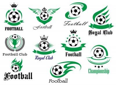 Naklejka Piłka nożna czy piłka nożna sport heraldyczne godła i symbole