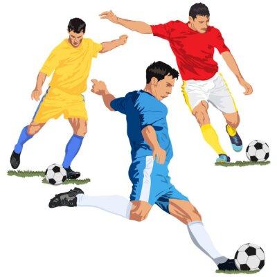 Naklejka Piłka nożna graczy