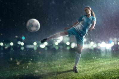 Naklejka Piłka nożna Kobieta