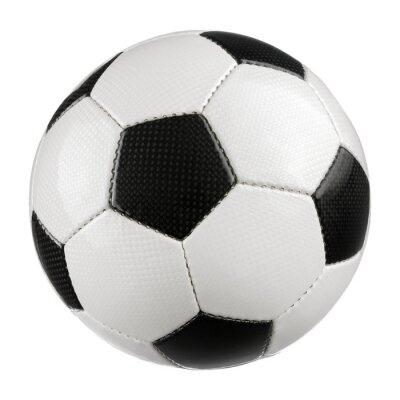 Naklejka Piłka nożna na czystej bieli