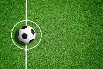 Naklejka Piłka nożna na trawniku